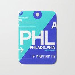 PHL Philadelphia Luggage Tag 1 Bath Mat