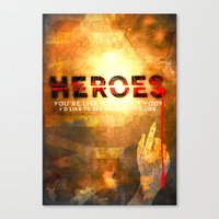heroes Canvas Prints featuring HEROES by Michael Scott Murphy