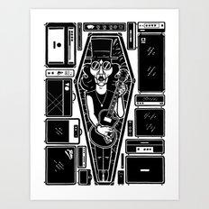 The dead rockstar Art Print