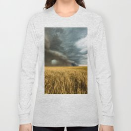 Earth Mover - Storm Advances Across Great Plains in Colorado Long Sleeve T-shirt