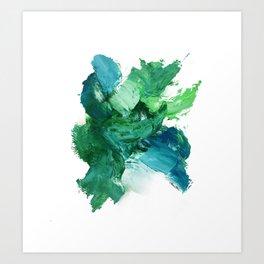 Abtact oil painting artwork Art Print