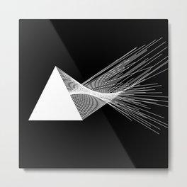 Abstraction 026 - Minimal Geometric Triangle Metal Print