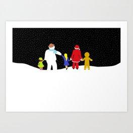 The Christmas Gang Art Print