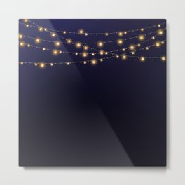 Modern string lights Metal Print