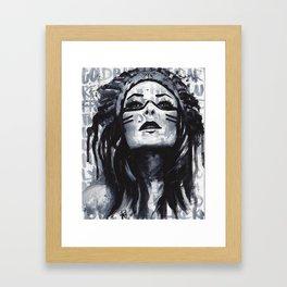 tiger lily Framed Art Print
