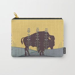 Plains Buffalo + Prairie Sage Carry-All Pouch