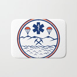 Land Sea Air Rescue Icon Bath Mat