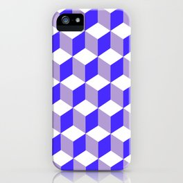 Diamond Repeating Pattern In Nebulas Blue and Grey iPhone Case