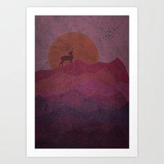 Purple Hills Art Print