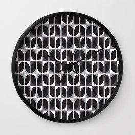 Geometric Pattern #181 (black gray) Wall Clock