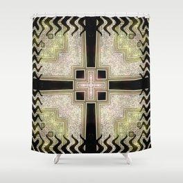 Zlata Geometrica Shower Curtain