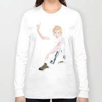 cassia beck Long Sleeve T-shirts featuring Beck Hansen by Alfredo Torres