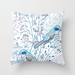 Floral Nature Pattern Throw Pillow