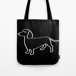 Doxie Love White Tote Bag