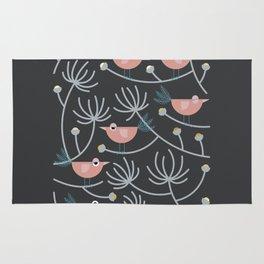 Resting Birdies - Dark//Pastels Rug