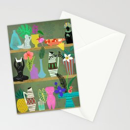 Flowers and Goddesses Shelf Stationery Cards