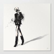 Fringe - Fashion Illustration Canvas Print