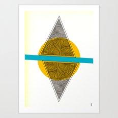 - sun sea triangles - Art Print