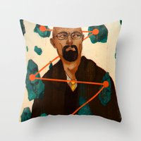 broken Throw Pillows featuring Broken by James M. Fenner