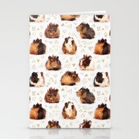 guinea pig Stationery Cards featuring The Essential Guinea Pig by micklyn