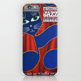 1995 Montreal Jazz Festival Cool Cats Poster Gig Advertisement iPhone Case