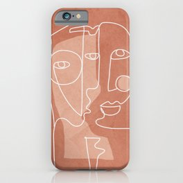 Faces 01 iPhone Case