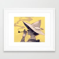 moomin Framed Art Prints featuring Schnupferich by Hika