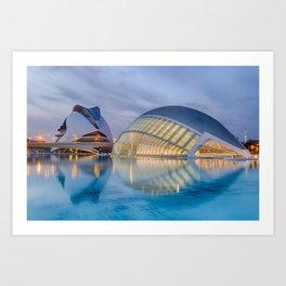 City of Arts and Sciences VIII by CALATRAVA architect Art Print