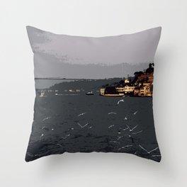 Istanbul bosphorus Throw Pillow