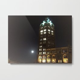 Vancouver Sun Building and the Moon Metal Print