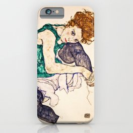 Egon Schiele - Seated Woman With Legs Drawn Up iPhone Case
