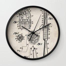 Rocket Ship Patent - Nasa Rocketship Art - Antique Wall Clock