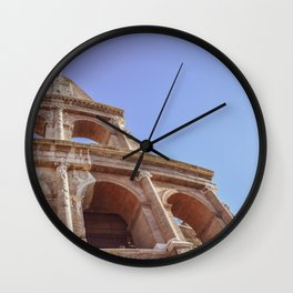 Close-up of Colosseum in Rome, Italy Wall Clock