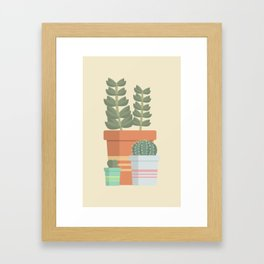 A collection of succulents Framed Art Print