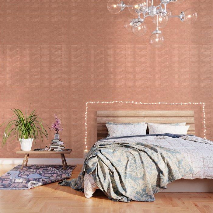 Peach Confetti Party Wallpaper