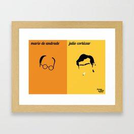 Mário de Andrade x Julio Cortázar Framed Art Print