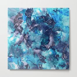 Abstract Alcohol Ink Painting Metal Print