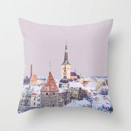 Tallinn, Estonia Travel Artwork Throw Pillow