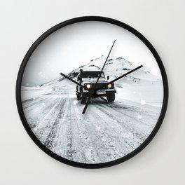 roadtrip in iceland Wall Clock