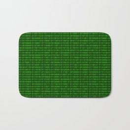 Binary numbers pattern in green Bath Mat