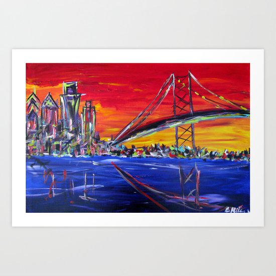 Ben Franklin Bridge Sunrise Art Print
