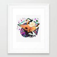 kris tate Framed Art Prints featuring PAPAYA by Carboardcities and Kris tate by cardboardcities