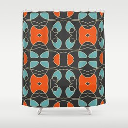 Colorful Retro Design Fall Shower Curtain