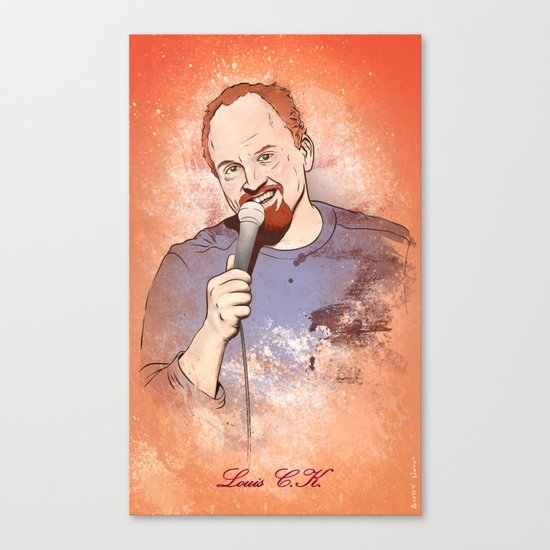 Make Me Laugh - Louis CK Canvas Print