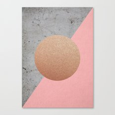 Abstract Shapes Rose Gold Canvas Print