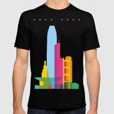 Shapes of Hong Kong. Accurate to scale Mens Fitted Tee Black MEDIUM