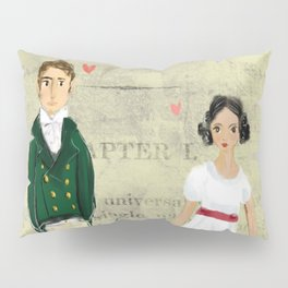 Mr.Darcy of Pemberley and Miss Bennet of Longbourn Pillow Sham