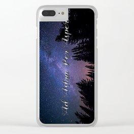 Ad Astra Per Aspera Clear iPhone Case