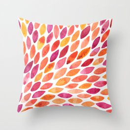 Watercolor brush strokes burst - autumn palette Throw Pillow