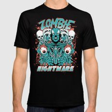 Zombie nightmare LARGE Mens Fitted Tee Black